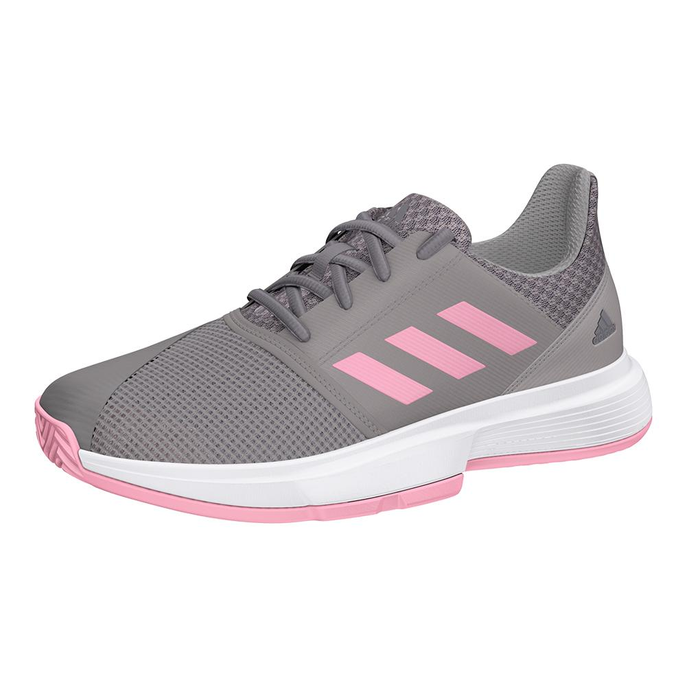 Juniors ` Courtjam Xj Tennis Shoes Light Granite And True Pink