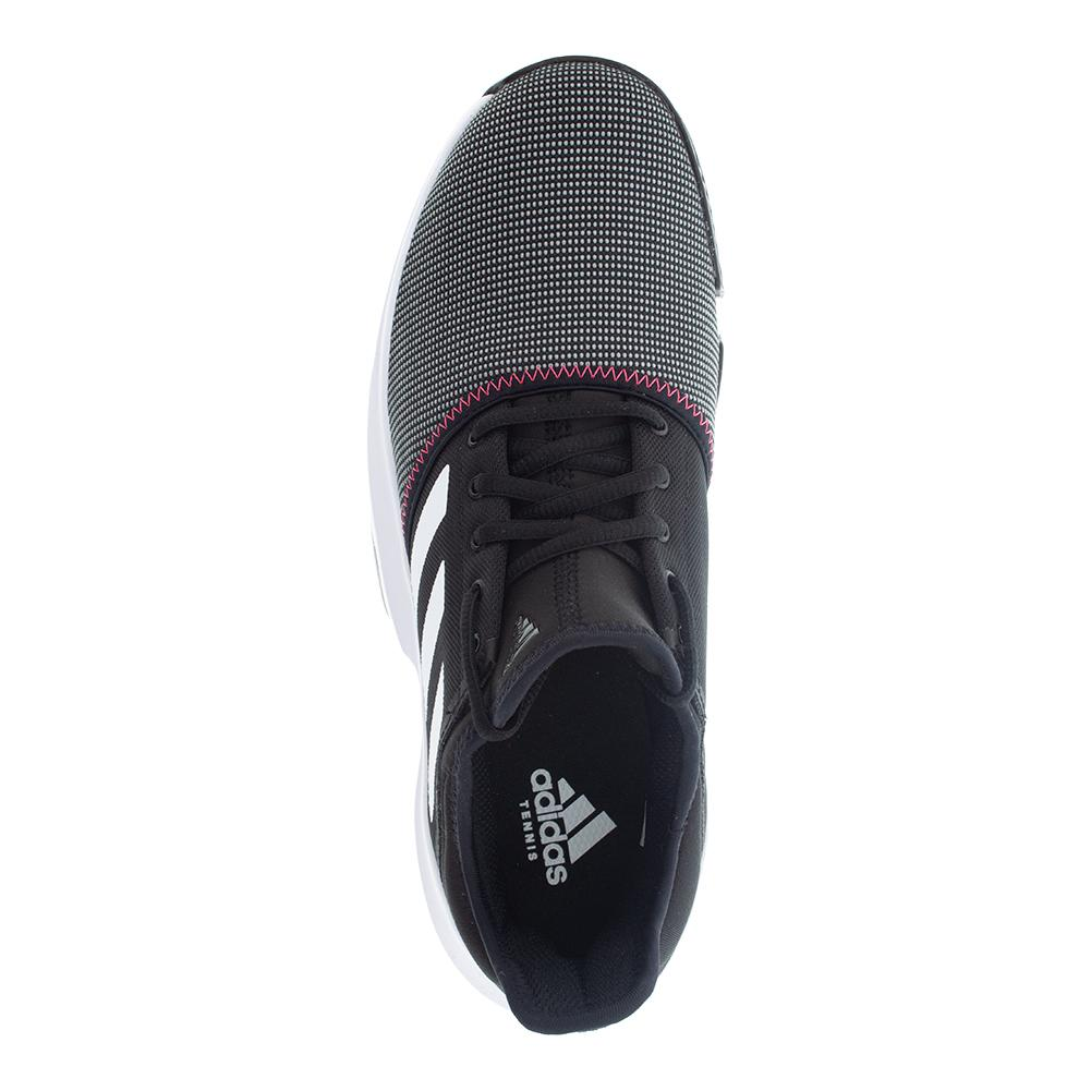 c47dc9070c4 ADIDAS ADIDAS Men s Gamecourt Tennis Shoes Black And White. Zoom. Hover to  zoom click to enlarge. 360 View