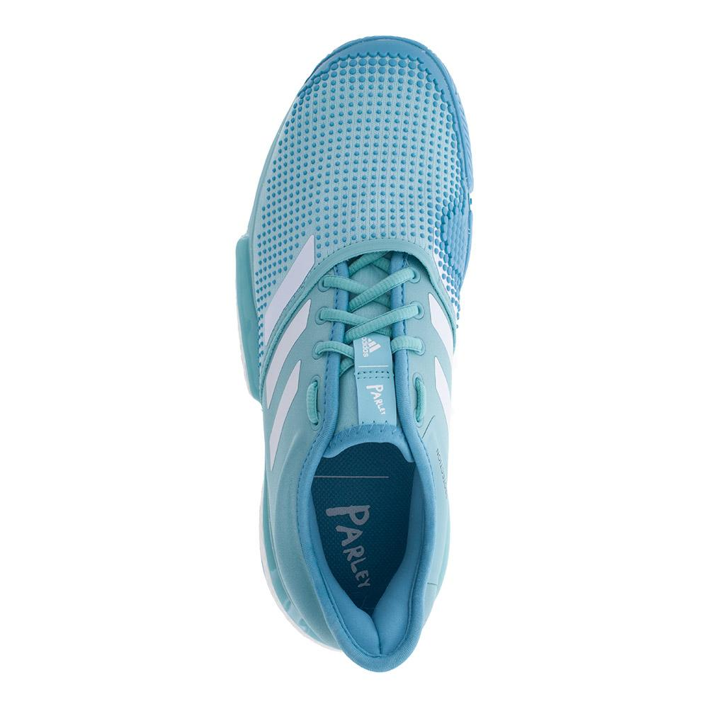 quality design 5d1a5 08a62 ADIDAS ADIDAS Mens Solecourt Boost Parley Tennis Shoes Blue Spirit And  White. Zoom. Hover to zoom click to enlarge. 360 View