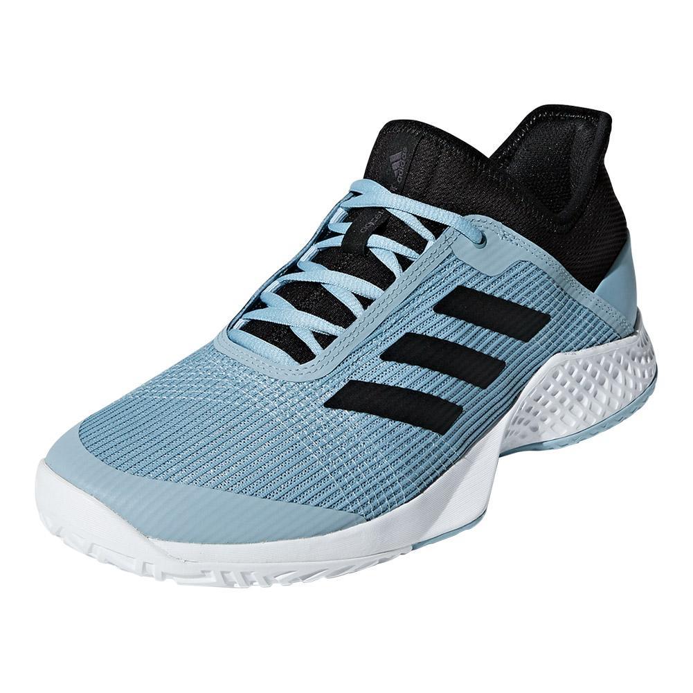 Men's Adizero Club 2 Tennis Shoes White And Blue Spirit