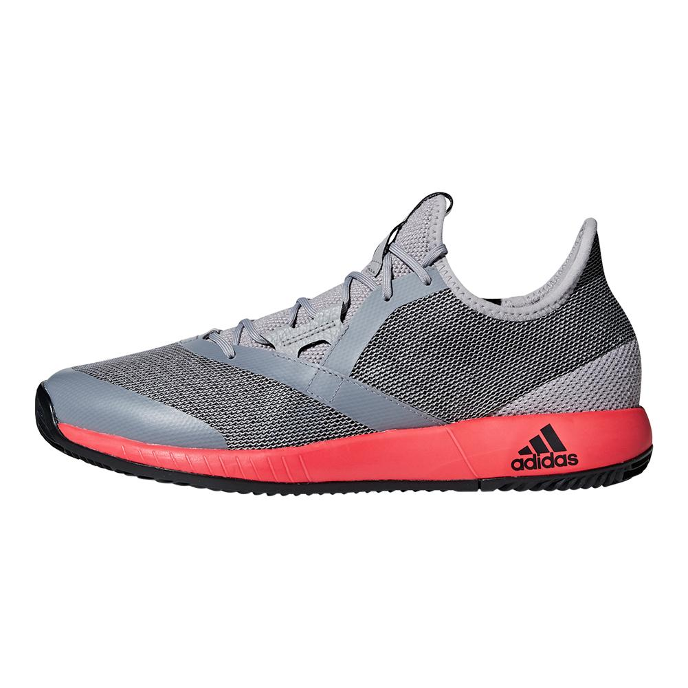 6471b81a1bda5 Men s Adizero Defiant Bounce Tennis Shoes Light Granite And Shock Red.  Hover to zoom click to enlarge. 360 View