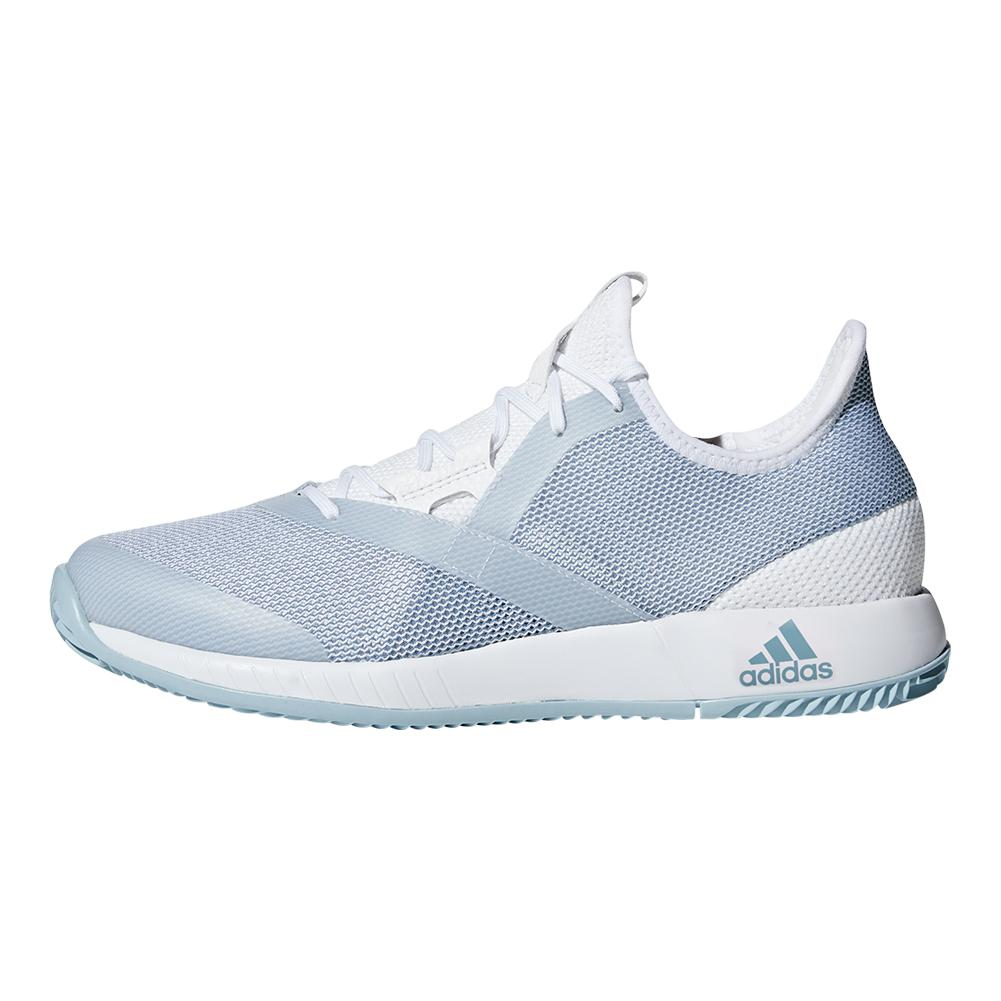 8b12676f9 Women s Adizero Defiant Bounce Tennis Shoes White And Ash Gray. Zoom. Hover  to zoom click to enlarge. 360 View
