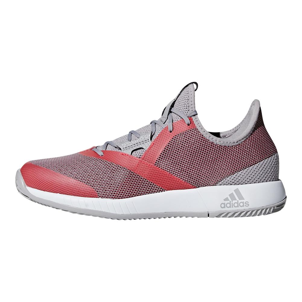 c2e63651c9b8a Women s Adizero Defiant Bounce Tennis Shoes Light Granite And Shock Red.  Zoom. Hover to zoom click to enlarge. 360 View