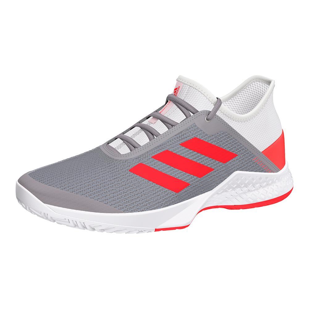Women's Adizero Club 2 Tennis Shoes White And Shock Red