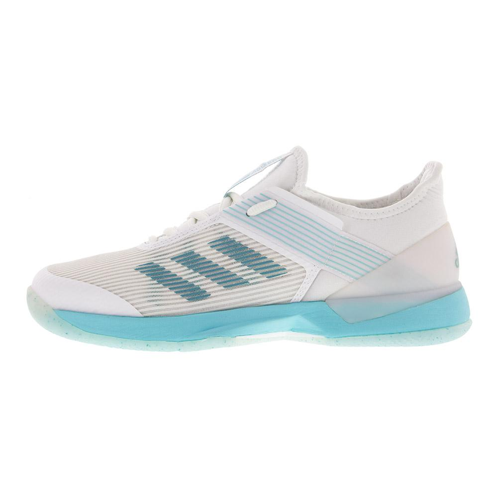 hot sale online 67ce4 8ece3 ADIDAS ADIDAS Womens Adizero Ubersonic 3 Parley Tennis Shoes Blue Spirit  And White. Zoom. Hover to zoom click to enlarge. 360 View