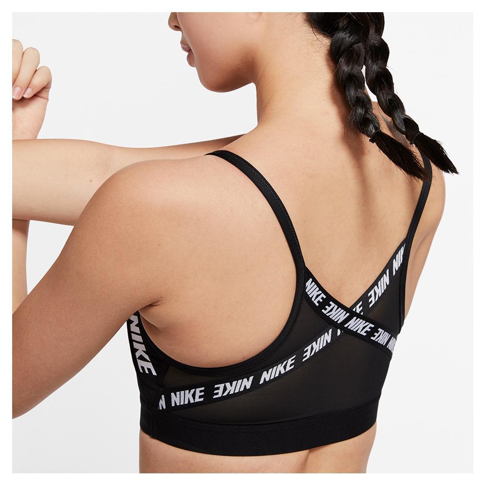 Nike Women S Indy Light Support Logo Sports Bra Tennis Express