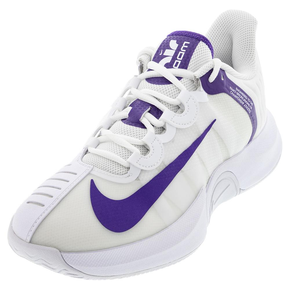 Men's Court Air Zoom Gp Turbo Tennis Shoes White And Court Purple