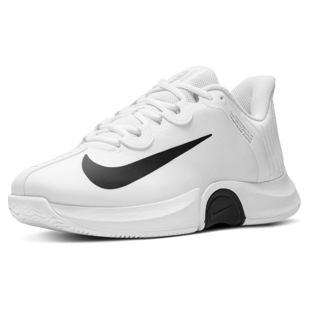 Men's Court Air Zoom Gp Turbo Tennis Shoes White And Black