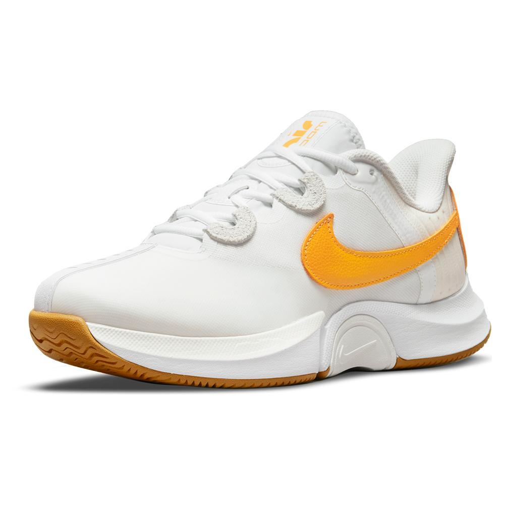 Men's Air Zoom Gp Turbo Tennis Shoes Summit White And University Gold