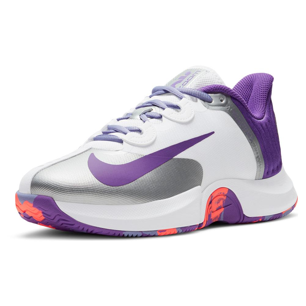Women's Court Air Zoom Gp Turbo Tennis Shoes White And Wild Berry
