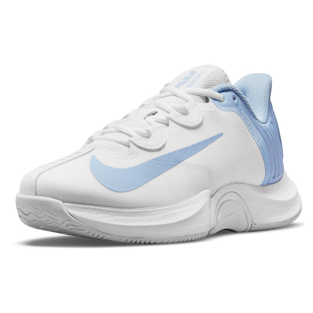 Women's Air Zoom Gp Turbo Tennis Shoes White And Aluminum