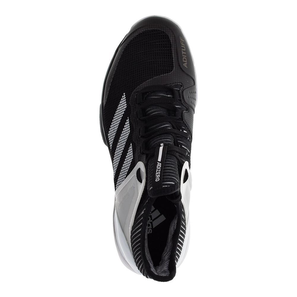half off 8b2c8 14658 ... size 40 8fc52 a45c9 ADIDAS ADIDAS Mens Adizero Ubersonic 2.0 Clay  Tennis Shoes Black And White ...