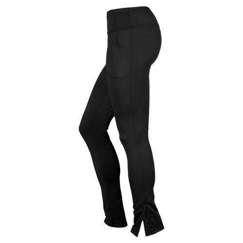 LUCKY IN LOVE Women`s Zip Leg Tennis Pant Black