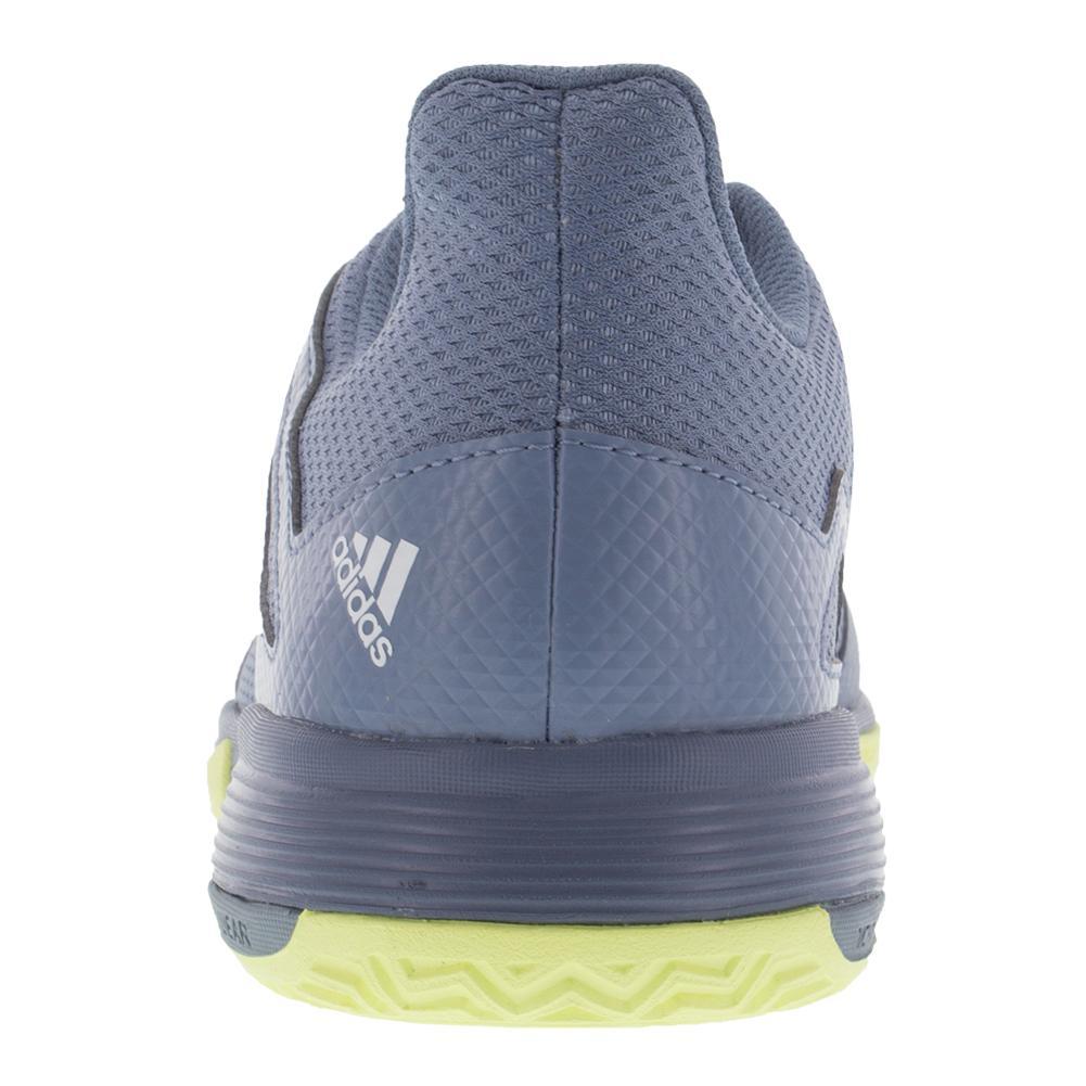 adidas Junior Adizero Club K Tennis Shoes in Blue and Yellow
