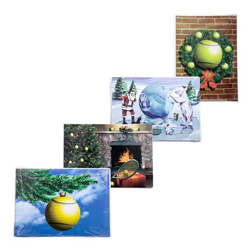 Tennis Christmas Cards 10 Pack