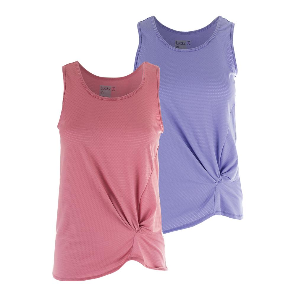 Women's Do The Twist Pindot Tennis Tank