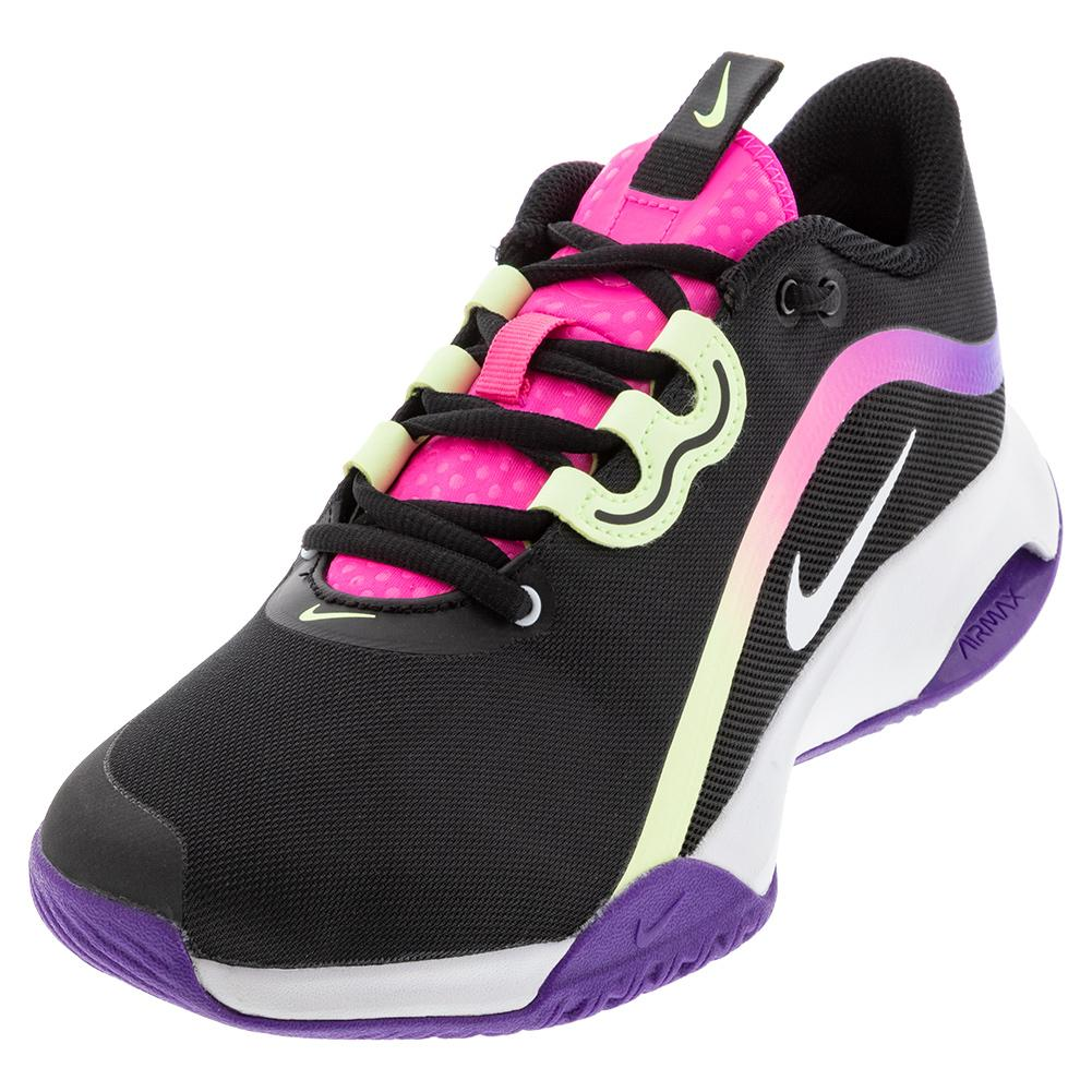 Women's Air Max Volley Tennis Shoes Black And White