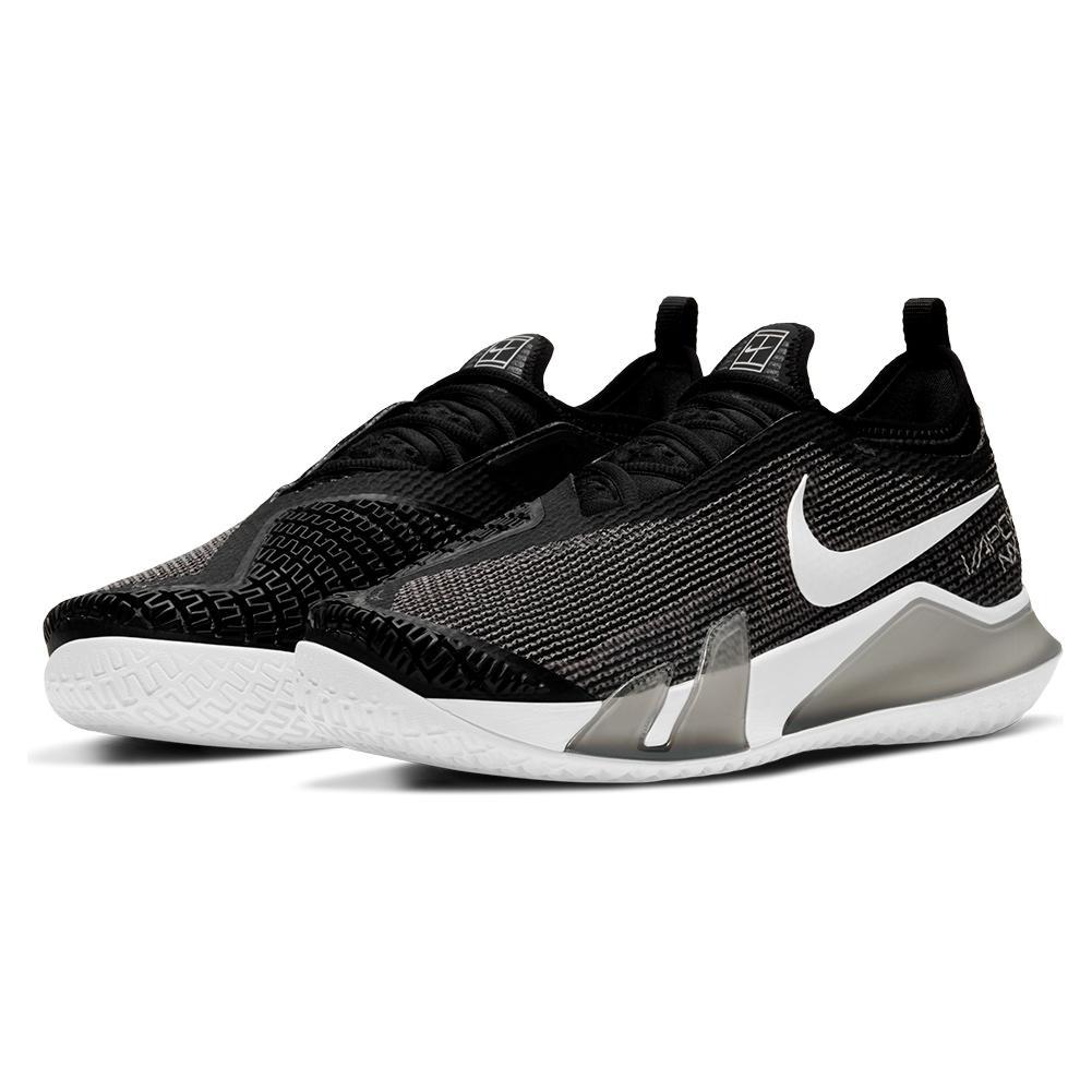 Men's React Vapor Nxt Tennis Shoes Black And White