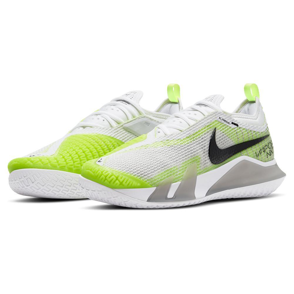 Women's React Vapor Nxt Tennis Shoes Grey Fog And Black