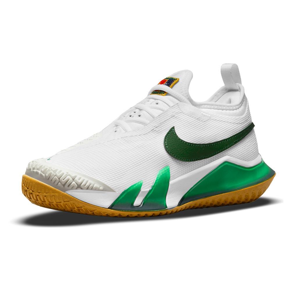 Women's React Vapor Nxt Hard Court Tennis Shoes White And Gorge Green