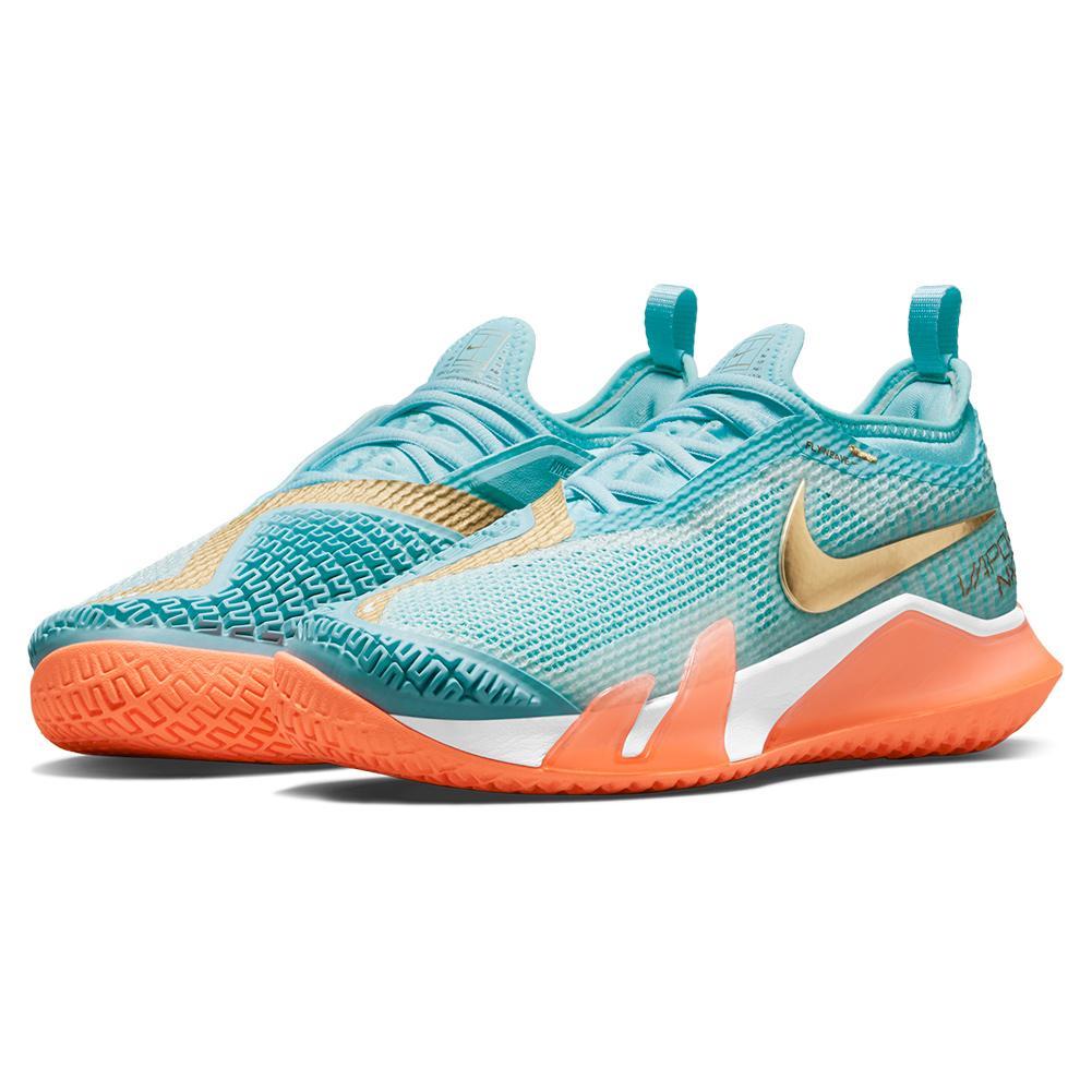 Women's React Vapor Nxt Tennis Shoes Copa And Metallic Gold