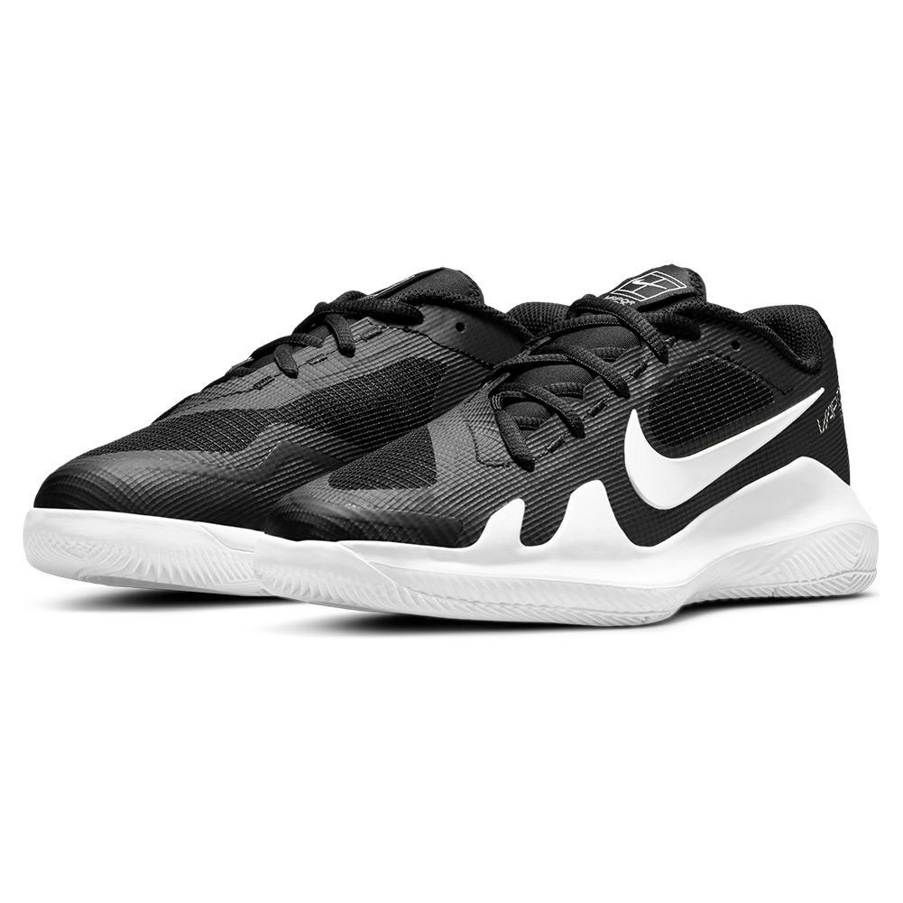 Juniors ` Vapor Pro Tennis Shoes Black And White