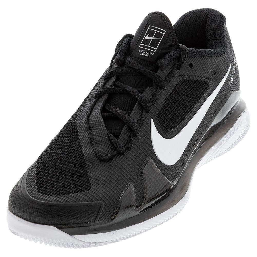 Men's Air Zoom Vapor Pro Tennis Shoes Black And White