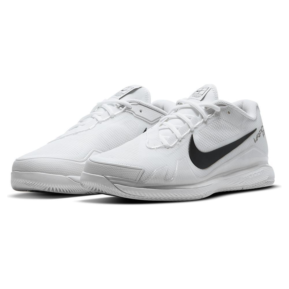 NikeCourt Men`s Air Zoom Vapor Pro Tennis Shoes White and Black ...