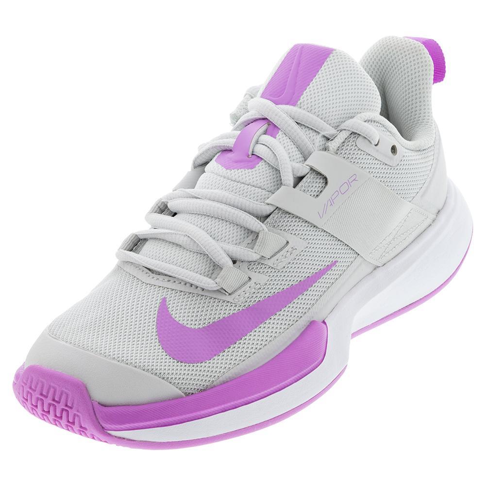 Women's Vapor Lite Tennis Shoes Photon Dust And Fuchsia Glow