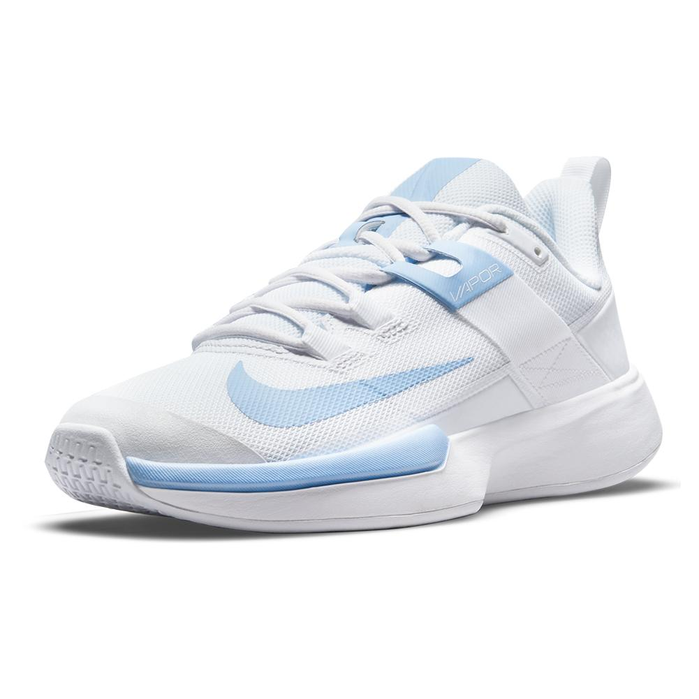 Women's Vapor Lite Tennis Shoes White And Aluminum