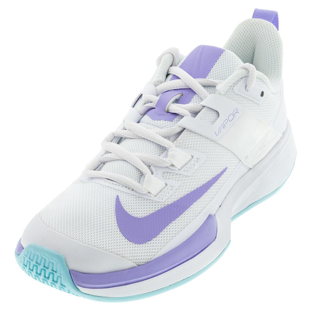 Women's Vapor Lite Tennis Shoes White And Purple Pulse