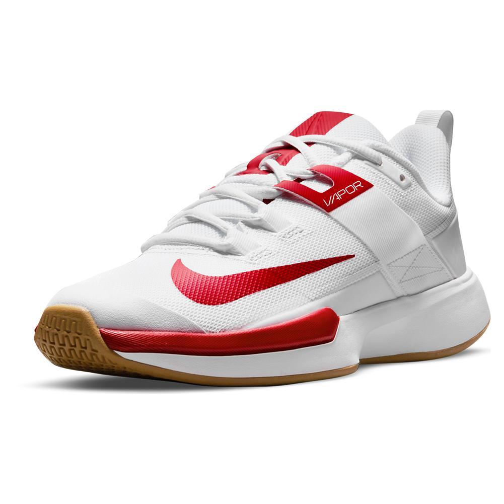 Women's Vapor Lite Tennis Shoes White And University Red