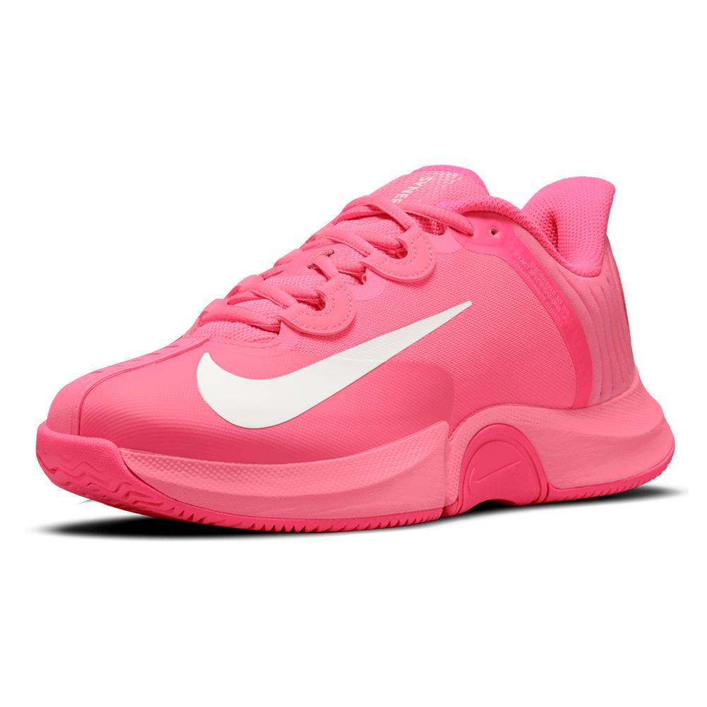 Women's Naomi Osaka Court Air Zoom Gp Turbo Tennis Shoes Digital Pink And White