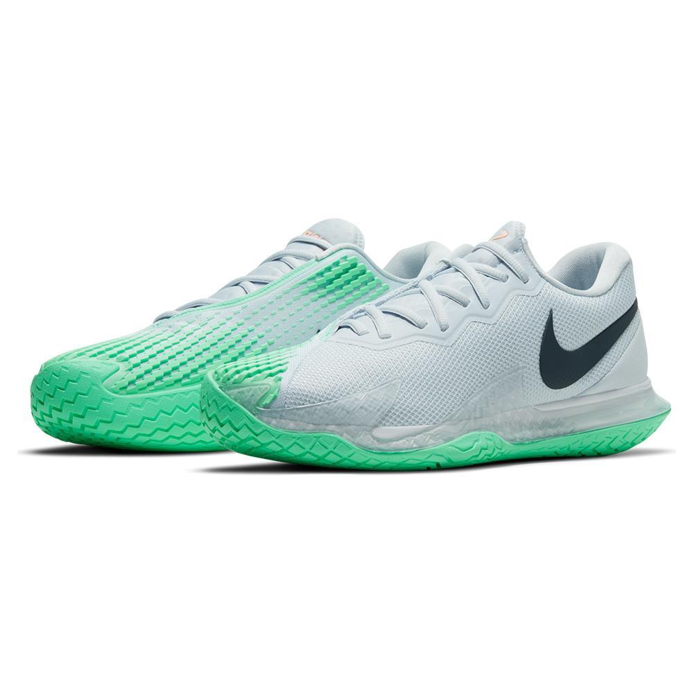 Men's Rafa Court Zoom Vapor Cage 4 Tennis Shoes Football Grey And Thunder Blue