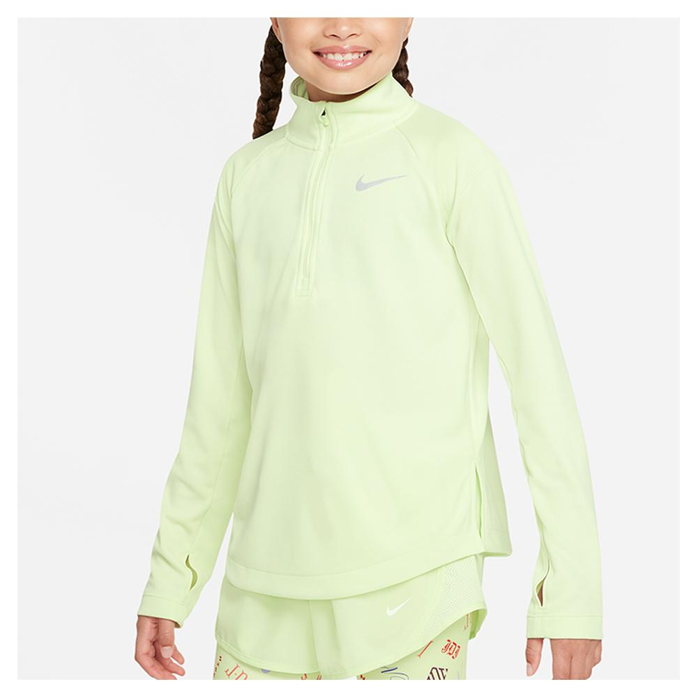 Girls ` Dri- Fit Long- Sleeve Running Top Lime Ice