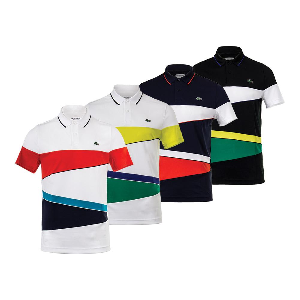 Men's T2 Engineereed Color Block Tennis Polo
