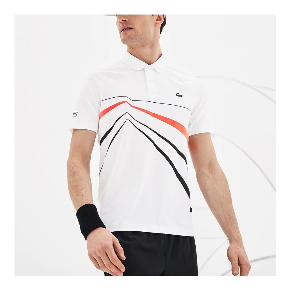 1ddf078d LACOSTE Men`s Novak Djokovic Ultra Dry Graphic Tennis Polo (DH3382 ...