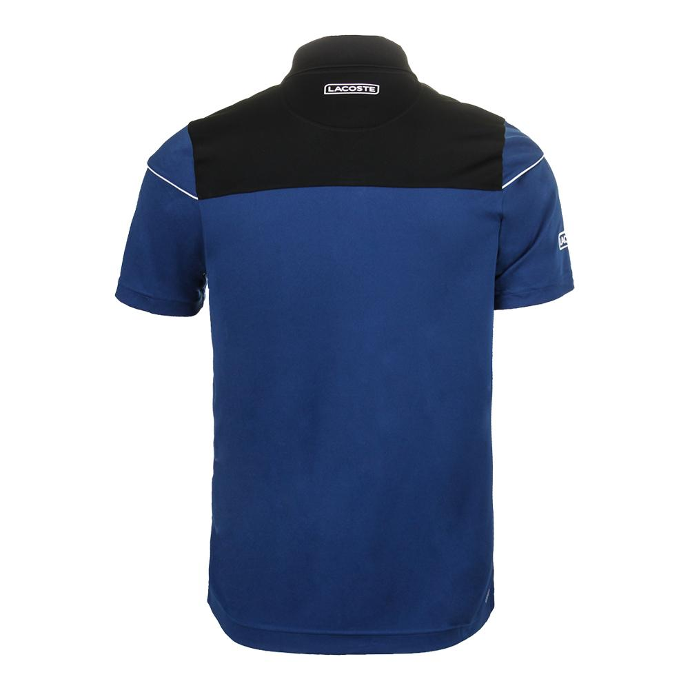 cf8f320a1 Men`s Short Sleeve Pique Ultra Dry Tennis Polo JRG BLACK MARINO