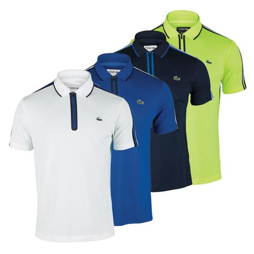 LACOSTE Men`s Short Sleeve Ultra Dry Tennis Polo