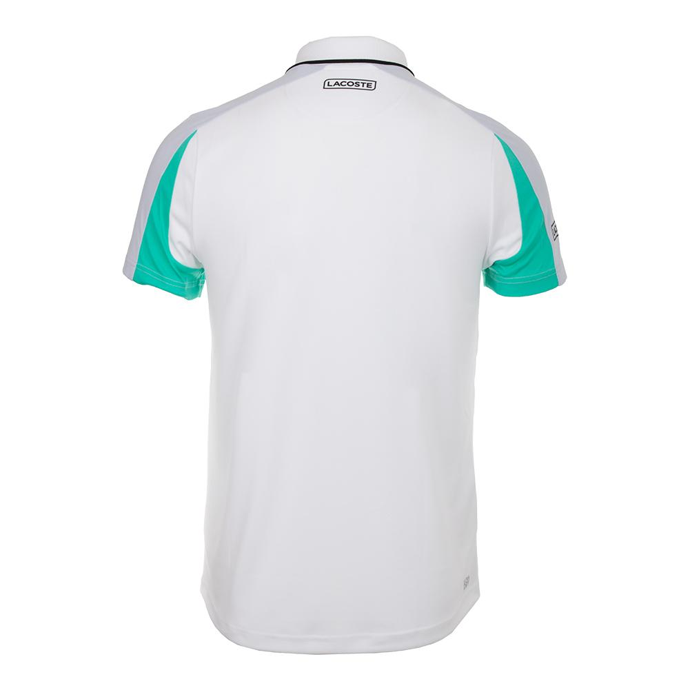 b61fa85b Men`s Ultra Dry Pique Colorblock Tennis Polo with Zip Collar  LCS_LTHOUSE_RED/NAVY