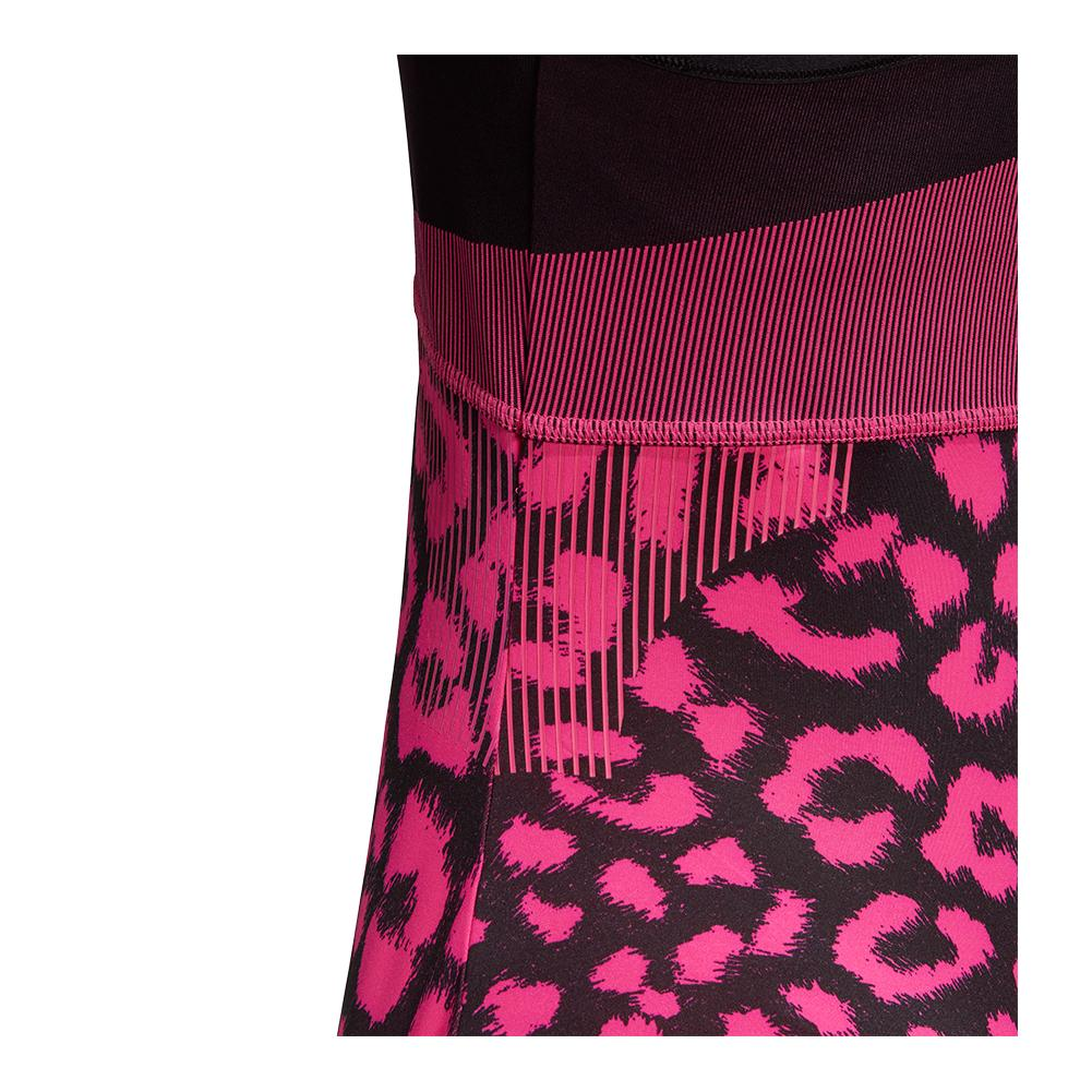 65cdfd1612 adidas Women's Stella McCartney Court Tennis Tank in Black and Shock ...