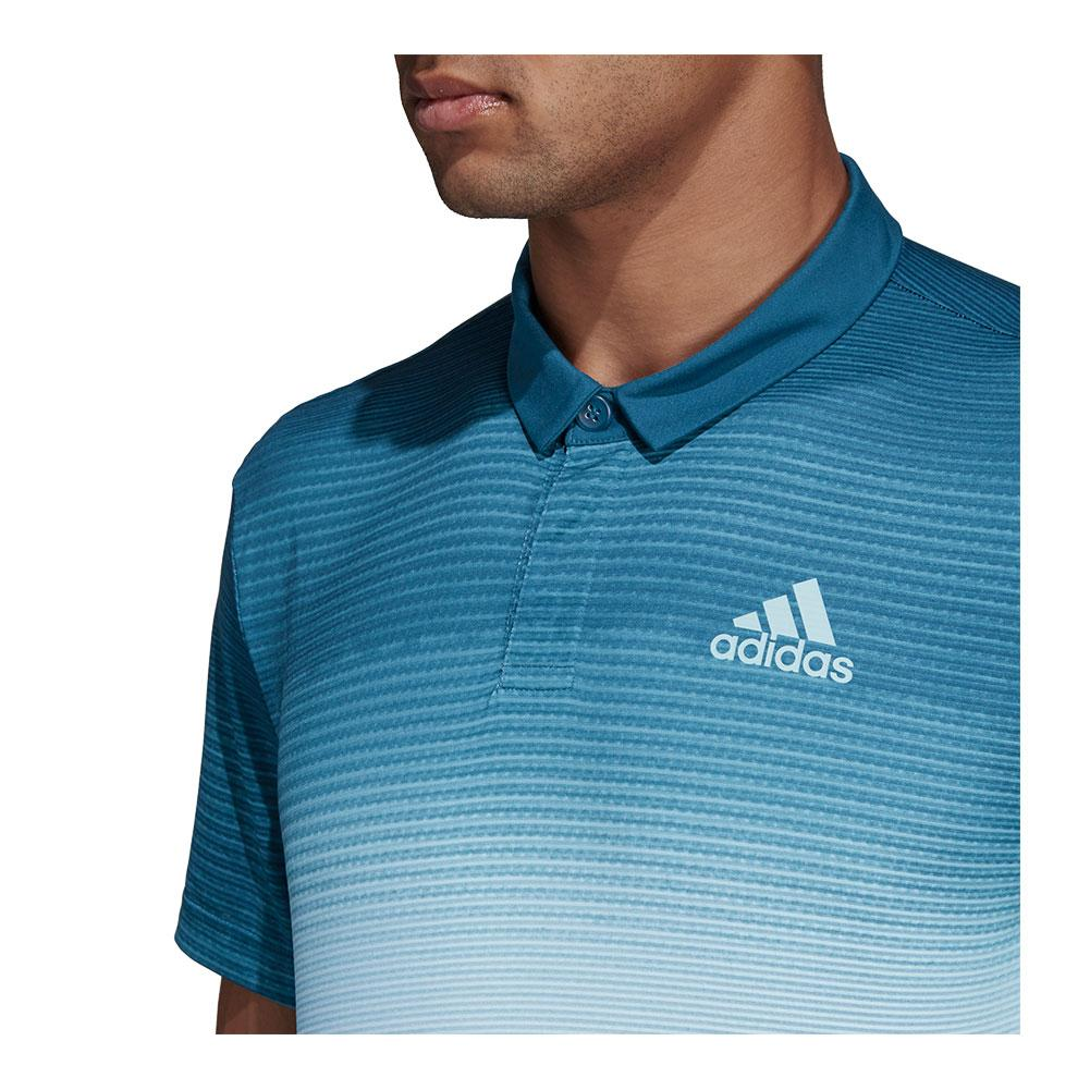 d827e23a9 Description; Customer Reviews; Tennis Express Reviews; Sizing. Description.  The adidas Men's Parley Tennis Polo in White and Easy Blue ...