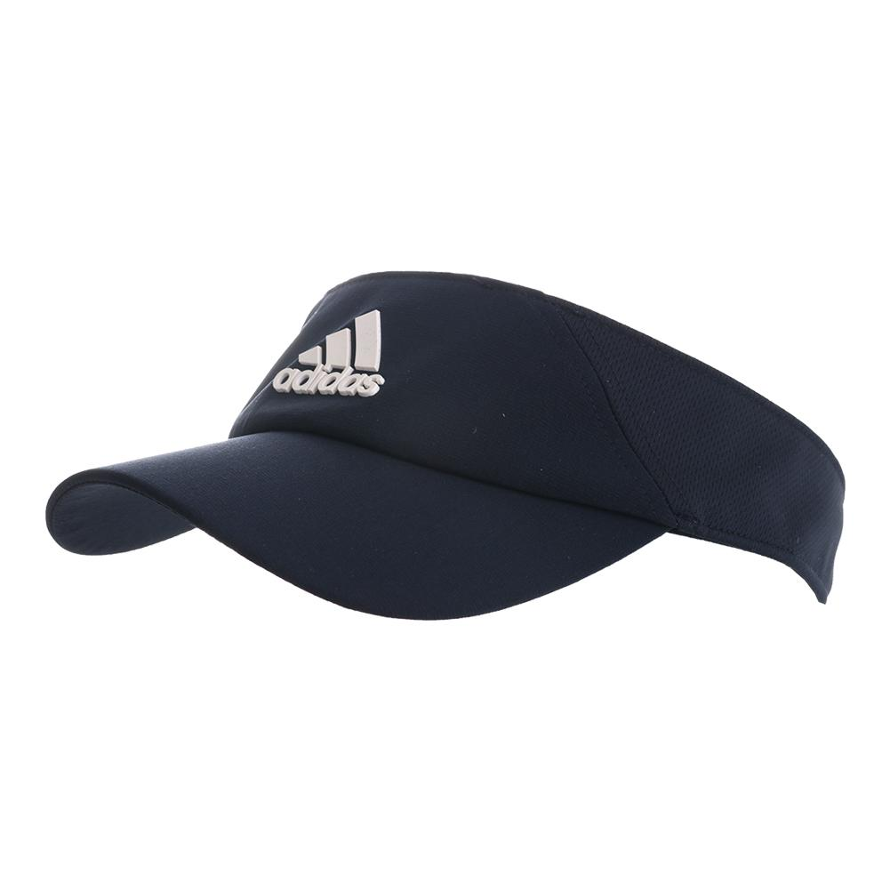 7550abab5fac7 Adidas ClimaLite Tennis Visor Legend Ink and White