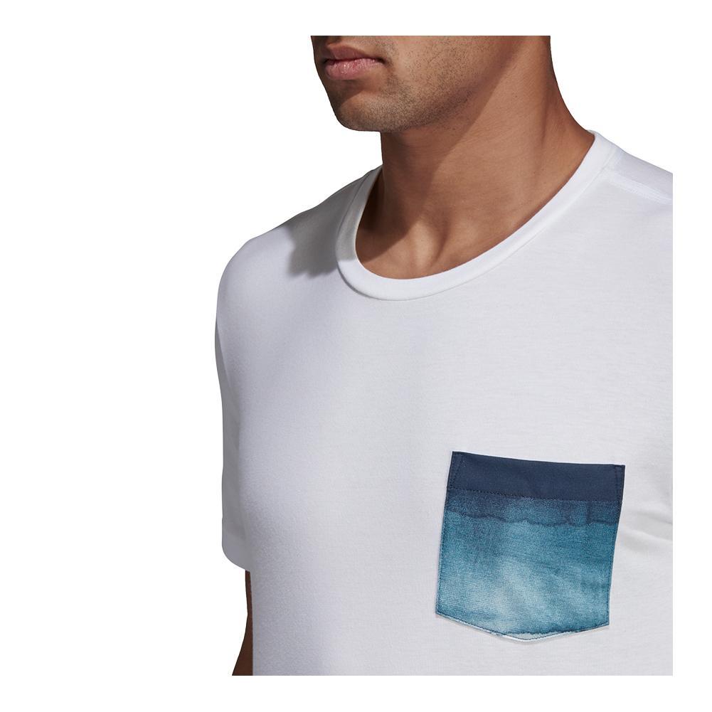 730a34524c Adidas Men`s Parley Pocket Tennis Tee White