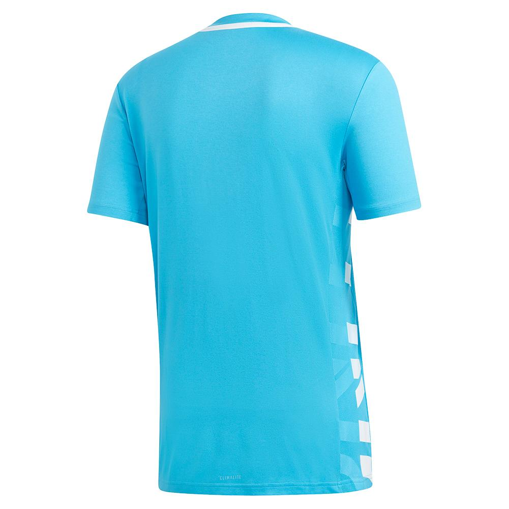 889f21ac7 Adidas Men`s Escouade Tennis Top Shock Cyan and White