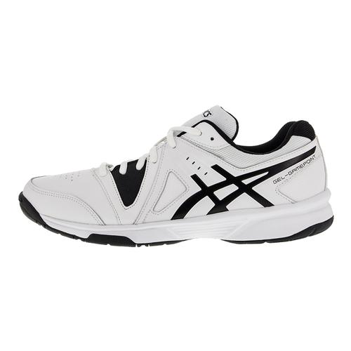asics s gel gamepoint tennis shoes black and white
