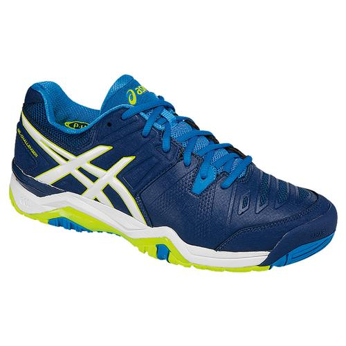 Men's Gel- Challenger 10 Tennis Shoes Poseidon And White