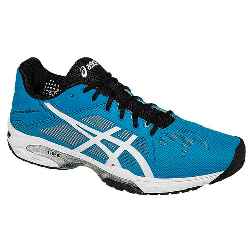 Men's Gel- Solution Speed 3 Tennis Shoes Blue Jewel And White