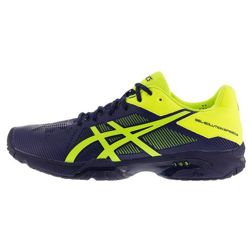 asics s gel solution speed 3 tennis shoes indigo blue