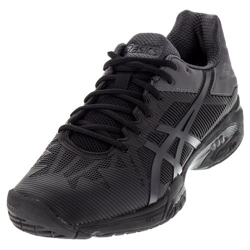 Men's Gel- Solution Speed 3 Tennis Shoes Black And Gray